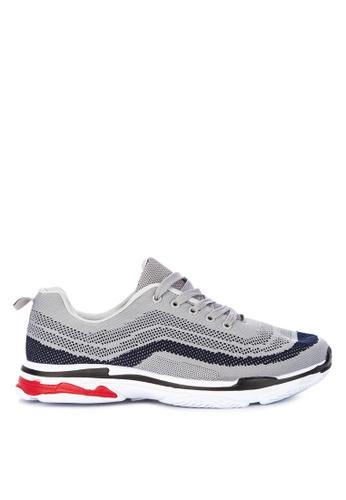 H2Ocean grey Claudius Two Tone Lace up Sneakers C2564SH2CD3544GS_1