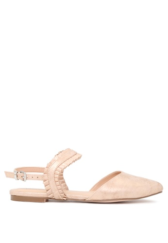 London Rag beige Fae Pointed Toe Flat Sandals 67403SH677770FGS_1