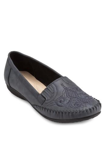 Moccasin 刺繡鞋面平底鞋, 女鞋, esprit taiwan鞋