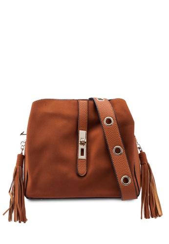 094b4298ec5d Unisa brown Faux Leather Crossbody Bag With Tassel 0D9BDAC07453FBGS 1
