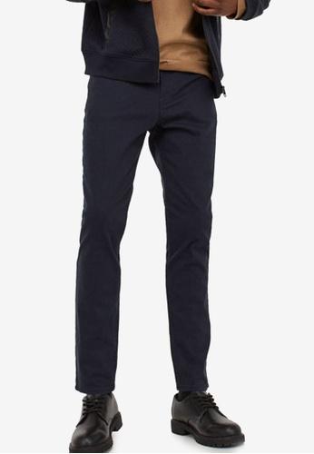 H&M blue Twill Trousers Skinny Fit 1AEB7AA70DB0A2GS_1