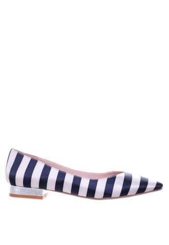 PRODUIT PARFAIT blue Blue stripe pointed toe ballerina EB4FCSHE25CCF8GS_1