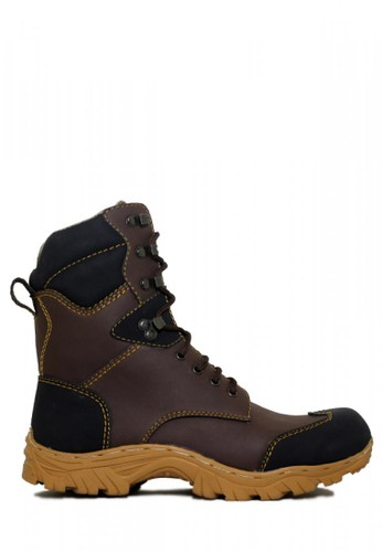 Cut Engineer brown Cut Engineer Safety Boots High Combo Leather Dark Brown EA0F4SH524642CGS_1