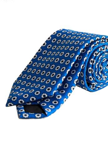 Mango Man blue Floral Tie 61479AC01BB6F6GS_1