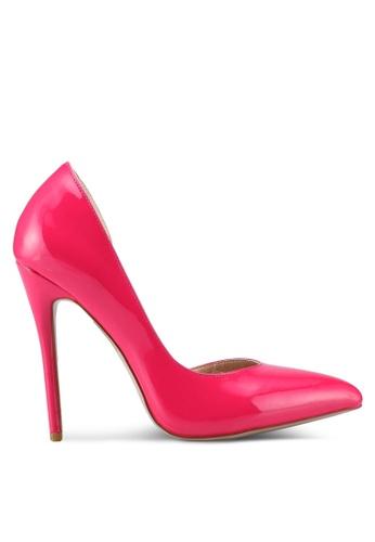 Public Desire pink Sachi Stiletto Court Heels 0F52BSH088D79DGS_1