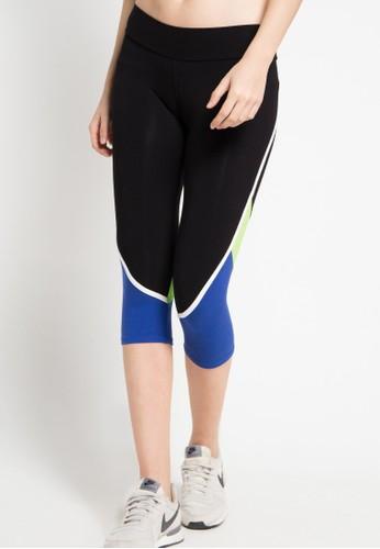 Folatre Sportswear black Fornixie Mid Calf Legging in Blue CD7D9AA4099895GS_1