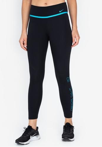 Nike black Women's One Icon Clash Grx 7/8 Tights 494F5AA607605BGS_1