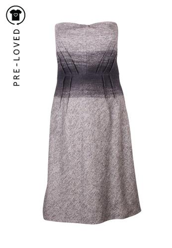 La Perla grey Pre-Loved la perla Grey Woolen Strapless Dress 26EFBAA8BAD607GS_1