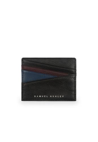 Samuel Ashley black Bronx ID Card Holder - Black/Dark Blue 57CA3AC1EE4A7FGS_1