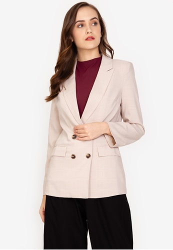ZALORA WORK multi Double Breasted Blazer 99FBEAA8BC0039GS_1