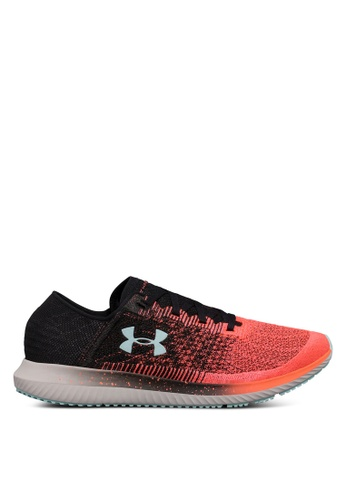 Under Armour black and pink and multi UA Threadborne Velociti Shoes UN337SH0SU8XMY_1