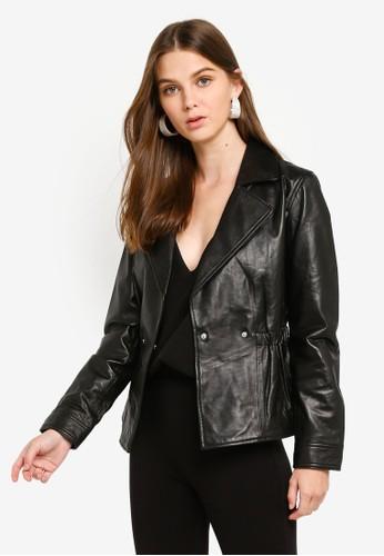ESPRIT black Jackets outdoor leather regula B929BAACC04D05GS_1