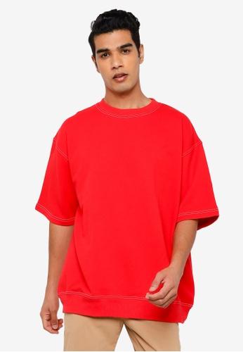 RAGEBLUE red Plain T-Shirt F8DA4AA266EC69GS_1