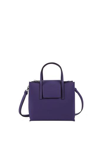 RABEANCO purple RABEANCO LUCIA BOXY Small Satchel - Violet C4741AC8FFAD5EGS_1