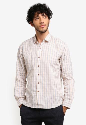 JAXON white Checkered Long Sleeve Shirt 8AEFEAA581376BGS_1