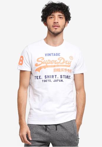 Superdry 白色 Shirt Shop Tri Tee 6E40DAA361CA9EGS_1