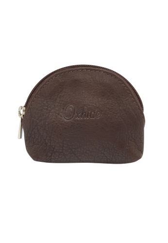 Oxhide brown Oxhide Leather Coin Purse Brown Small EFFB8AC4627326GS_1