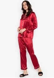 FEMINISM red Longsleeve PJ Set 3C29EAAD68B875GS_1