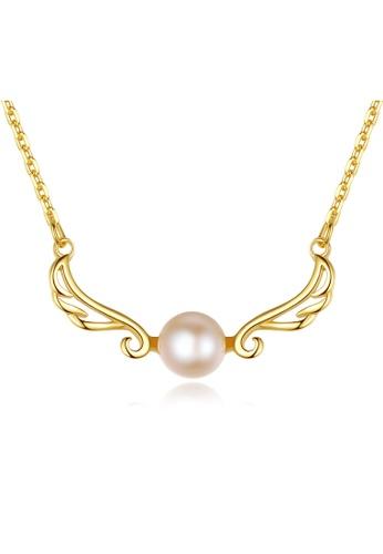 SUNRAIS gold Premium Color Stone Golden Crown Necklace B898BAC5E18652GS_1