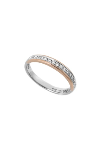 GOLDHEART gold GOLDHEART Evermore Ring, White Gold & Rose Gold 750 (EBE-R4857) BF8A9AC22B9C79GS_1
