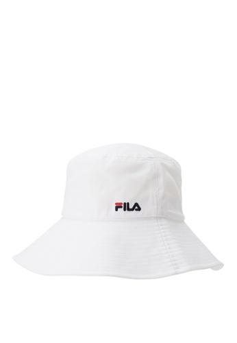 FILA white FILA KIDS FILA Logo Bucket Hat CDB51KCD20BC9EGS_1