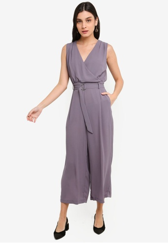 FORCAST grey Briley Belted Jumpsuit 30B9EAAE4CF520GS_1