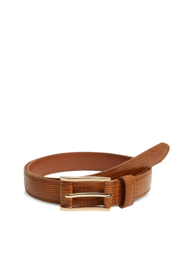 Mango brown Square Buckle Belt D595EACFB6A6B6GS_1