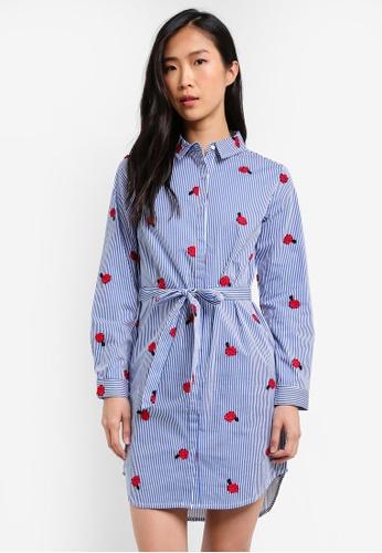 ZALORA blue Collar Shirt Dress F763BAA2533A83GS_1