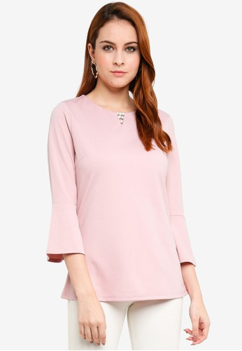 peace collections pink Diamante Blouse 7E1A7AA6656A26GS_1