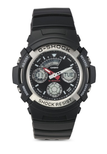 Casio black Casio G-Shock Watch AW-590-1A-NL CA843AC0T07AMY_1