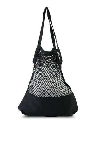 Rubi black Woven Market Bag EB7C2ACE22A6CAGS_1