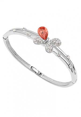 LOVENGIFTS red LOVENGIFTS Butterfly Charm Bangle (Red) 4BB34AC4FB8210GS_1