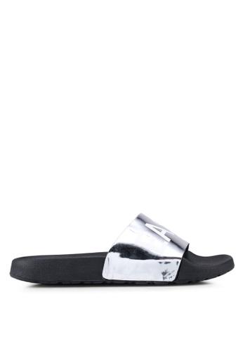 Vero Moda grey Letter Sandal 53399SHFE37931GS_1