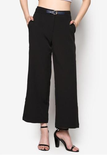 腰帶直筒寬管長褲esprit官網, 服飾, 長褲及內搭褲