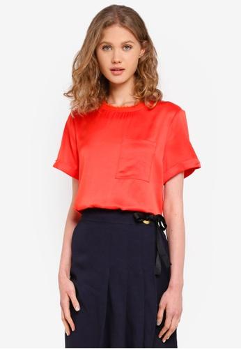 ESPRIT orange Short Sleeve T-Shirt 75378AAF8CC2BEGS_1