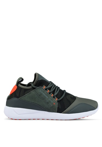 Superdry green Superdry Superlite Runner Sneakers 27F4ESHAEB4930GS_1