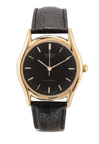 MTP-1094Q-1A 男士皮革手錶、 錶類、 飾品配件CasioMTP-1094Q-1A男士皮革手錶最新折價