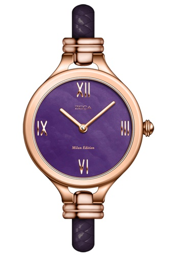 ZECA pink and silver and gold Zeca Watches Ladies Fashion Leather Analog - 147L Purple Rosegold ZE260AC40SITSG_1