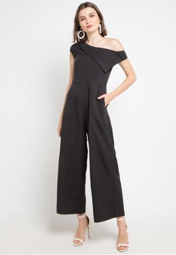 Chic Simple black Asym Jumpsuit E2B02AA00FA93EGS_1