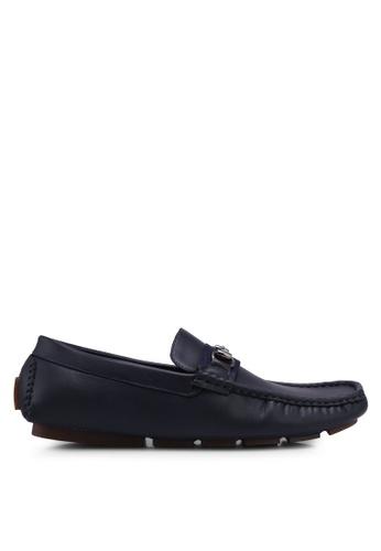 UniqTee 藍色 Loafers with Web and Horsebit B87B5SH68FF43BGS_1