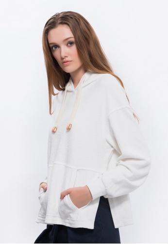 Alpha Style white Maliyah Cropped Hoody AL461AA0FVDCSG_1