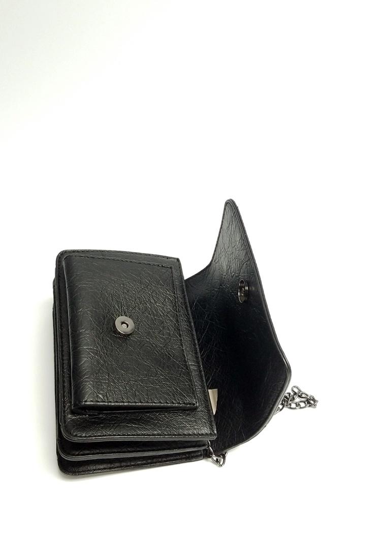 4da595caa31a ... Bag Crossbody black Lara Friday Chain Tassel Black Front Flap Women s  nfqw7OI