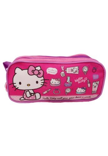 Hello Kitty pink Hello Kitty Double Zip Square Pencil Bag F433BKCAECBEEAGS_1