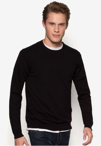 簡約圓領長袖衫,esprit 台中 服飾, 毛線衣