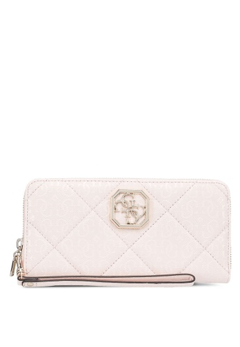 Guess pink Dilla Sling Large Zip Around Wallet 18B82AC0B04B44GS_1