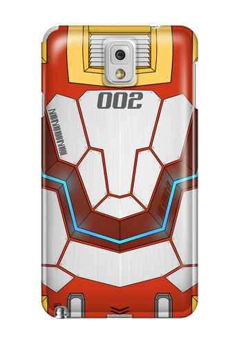 Wonder Cover red Mecha JD002 Glossy Hard Case for Samsung Note 3 WO617AC42DWRPH_1