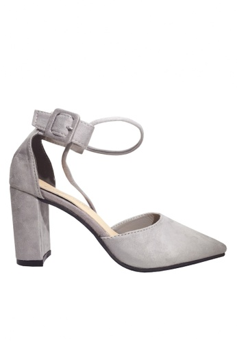 Twenty Eight Shoes 灰色 搭帶尖頭高跟鞋 VLA01 CC442SH31B31DCGS_1