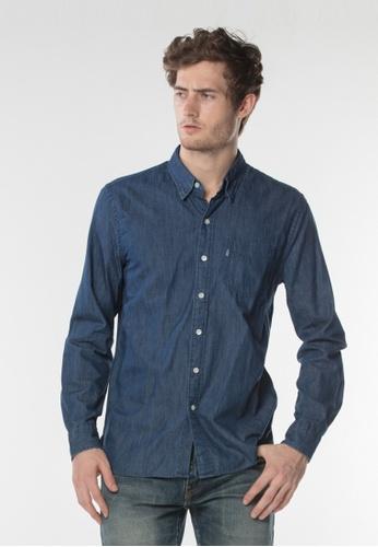 Levi's blue Sunset One Pocket Shirt 5ED64AAE70E53DGS_1