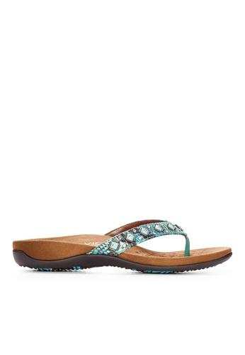 Vionic green Floriana Toe Post Sandal 4D629SH2AC47FCGS_1