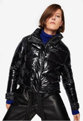 Mango black Water-Repellent Quilted Coat MA193AA0S6IXMY_1
